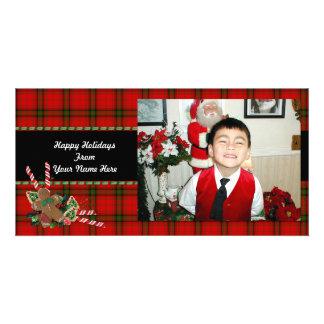 Christmas photo card plaid