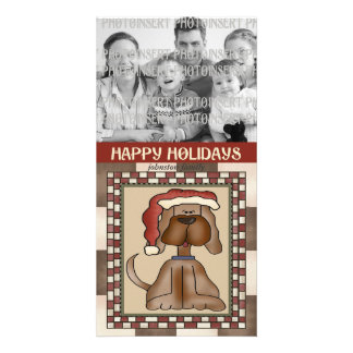 Christmas Photo Card - Puppy Dog