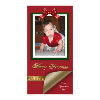Christmas Photo Card red