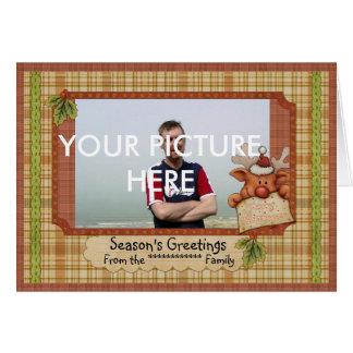 Christmas Photo card With Cute Reindeer