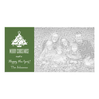 Christmas photo cards with custom Holiday greeting