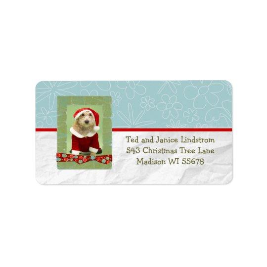 Christmas Photo Frame Custom Personalised Address Label