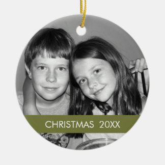 Christmas Photo Frame - Modern Ceramic Ornament