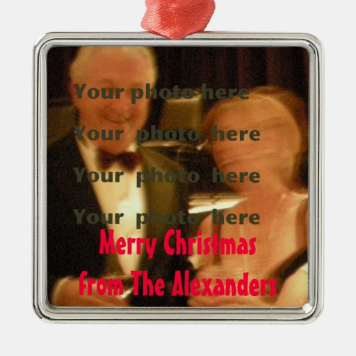 Christmas Photo Greeting Custom Christmas Tree Ornament