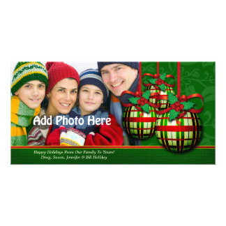 Christmas Photo Greetings Custom Holiday Template Customised Photo Card