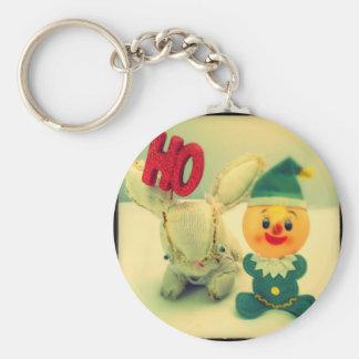 Christmas Photo Holiday Greeting Card Basic Round Button Key Ring