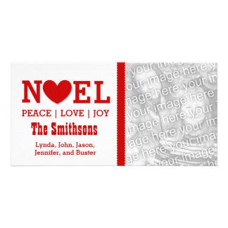 Christmas Photo NOEL Peace Love Joy Card V02 Customized Photo Card