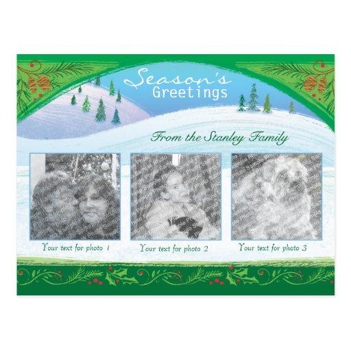 Christmas Photo Snow Scene Postcard