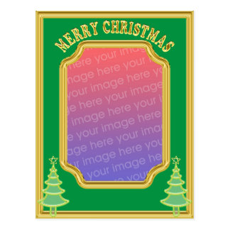 Christmas photo template Postcard