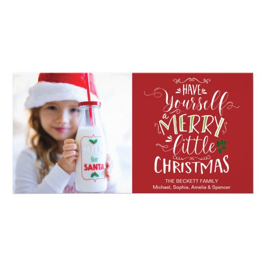 Christmas Photocard - Have Yourself a Merry Little Card