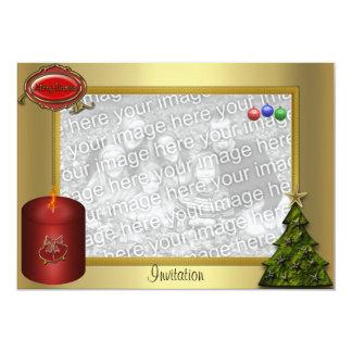 "Christmas Photocard Invitation 5"" X 7"" Invitation Card"