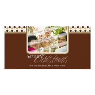 CHRISTMAS PHOTOCARD :: minispot snowflake 2B Card