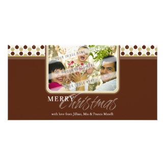 CHRISTMAS PHOTOCARD :: minispot snowflake 2B Personalised Photo Card