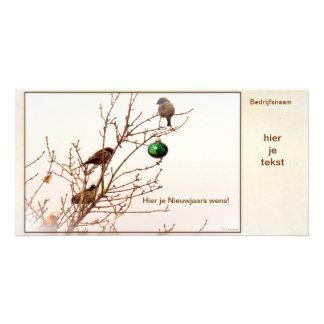 Christmas - photograph card - business card - photo greeting card