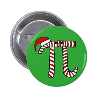 Christmas Pi Cartoon Character (Red) 6 Cm Round Badge