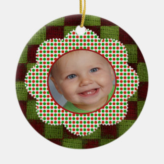 Christmas Picture Custom Photo and Name Ornaments