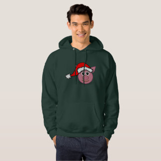 christmas pig mens hooded hoodie hoody sweatshirt