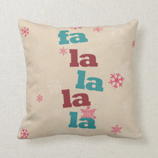 Christmas pillow- Fa la la la la Cushion