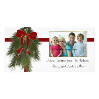 Christmas Pine Bough Photo Card