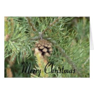 Christmas Pine Cone Card