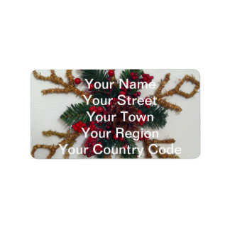 Christmas Pine Cone Decoration Address Label