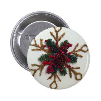 Christmas Pine Cone Decoration Pins