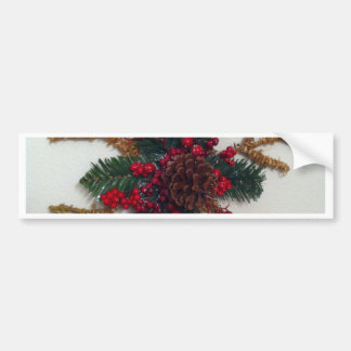 Christmas Pine Cone Decoration Bumper Sticker