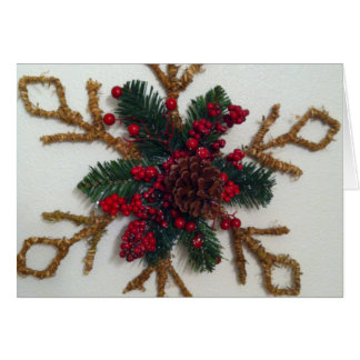 Christmas Pine Cone Decoration Greeting Cards