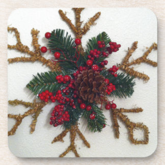 Christmas Pine Cone Decoration Drink Coasters