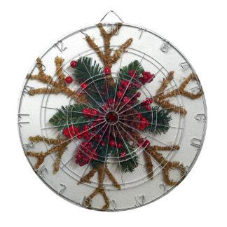 Christmas Pine Cone Decoration Dartboard With Darts