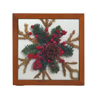 Christmas Pine Cone Decoration Pencil Holder