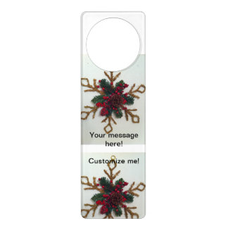 Christmas Pine Cone Decoration Door Hangers