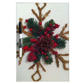 Christmas Pine Cone Decoration Dry-Erase Boards