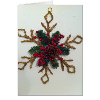 Christmas Pine Cone Decoration Greeting Card