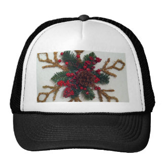 Christmas Pine Cone Decoration Trucker Hat