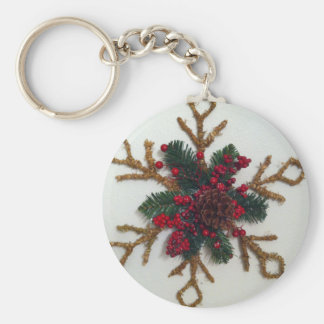 Christmas Pine Cone Decoration Keychain