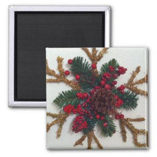 Christmas Pine Cone Decoration Refrigerator Magnet