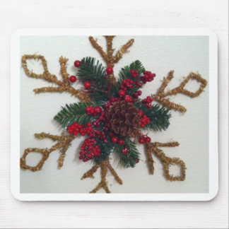 Christmas Pine Cone Decoration Mouse Pad