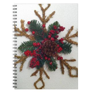 Christmas Pine Cone Decoration Notebooks