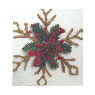 Christmas Pine Cone Decoration Note Pads