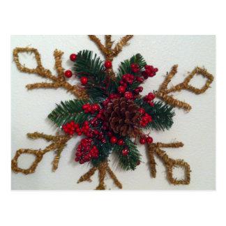 Christmas Pine Cone Decoration Postcard