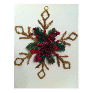 Christmas Pine Cone Decoration Postcard