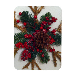 Christmas Pine Cone Decoration Vinyl Magnets