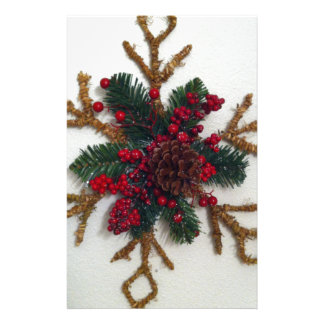 Christmas Pine Cone Decoration Personalized Stationery