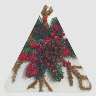 Christmas Pine Cone Decoration Triangle Stickers