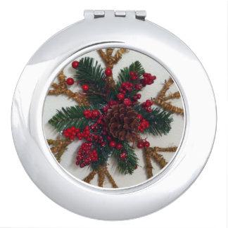 Christmas Pine Cone Decoration Vanity Mirror