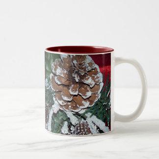 christmas pine cone mug