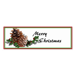 Christmas Pine Cones Business Card