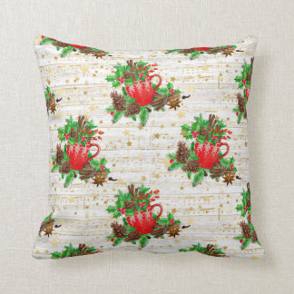 Christmas pine cones cushion