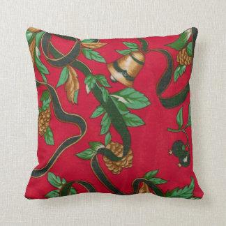 Christmas Pine Cones Throw Pillows